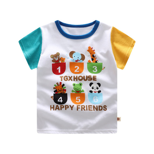 [371183] - Baju Atasan Anak Import / Kaos Summer Anak - Motif Happy Friends
