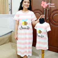 [371321] - Dress / Daster Couple Ibu Anak Import - Motif Bee Smile