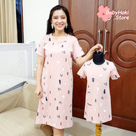 [371322] - Dress / Daster Couple Ibu Anak Import - Motif Pine Forest