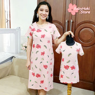 [371323] - Dress / Daster Couple Ibu Anak Import - Motif Autumn Has Come