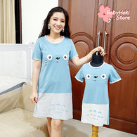 [371324] - Dress / Daster Couple Ibu Anak Import - Motif Facial Expressions
