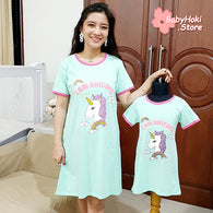 [371329] - Dress / Daster Couple Ibu Anak Import - Motif I'am Unicorn