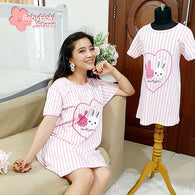 [371331] - Dress / Daster Couple Ibu Anak Import - Motif Rabbit Twins