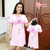 [371332] - Dress / Daster Couple Ibu Anak Import - Motif Attractive Ballet Girl