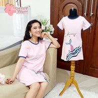 [371333] - Dress / Daster Couple Ibu Anak Import - Motif Happy Mermaid