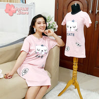 [371336] - Dress / Daster Couple Ibu Anak Import - Motif Queen of Cats