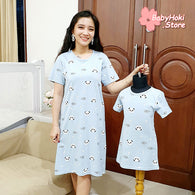 [371338] - Dress / Daster Couple Ibu Anak Import - Motif Adorable Panda