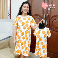 [371348] - Dress / Daster Couple Ibu Anak Import - Motif Orange Juice