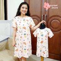 [371349] - Dress / Daster Couple Ibu Anak Import - Motif Fruits Club