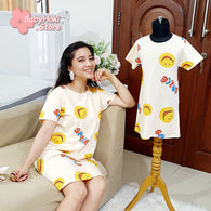 [371351] - Dress / Daster Couple Ibu Anak Import - Motif Happy Smile