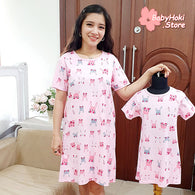 [371352] - Dress / Daster Couple Ibu Anak Import - Motif Shy Rabbit