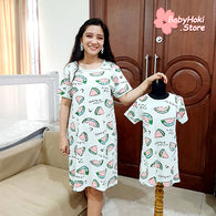 [371353] - Dress / Daster Couple Ibu Anak Import - Motif Sweet Watermelon