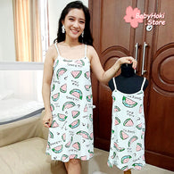 [371355] - Slip Dress / Daster Couple Ibu Anak Import - Motif Sweet Watermelon