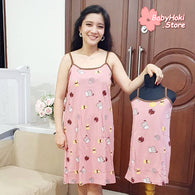 [371357] - Slip Dress / Daster Couple Ibu Anak Import - Motif Pet cat