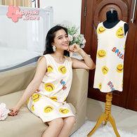 [371360] - Dress / Daster Couple Ibu Anak Import - Motif Smile Widely