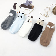 [376127] - Kaos Kaki Anak Import Lucu - Motif Animal Face