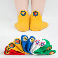 [377101-DARK YELLOW] - Kaos Kaki Anak Lucu 5 In 1 Import - Motif Bordir Super Logo