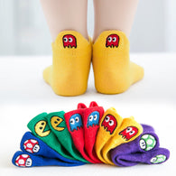 [377101-MUSTARD] - Kaos Kaki Anak Lucu 5 In 1 Import - Motif Bordir Ghost