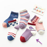 [377105] - Kaos Kaki Anak Lucu 5 In 1 Import - Motif Love Bird