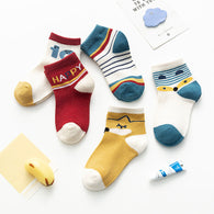 [377108] - Kaos Kaki Anak Lucu 5 In 1 Import - Motif Happy