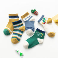 [377111] - Kaos Kaki Anak Lucu 5 In 1 Import - Motif Dino Play