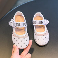 [381102-WHITE] - Casual Shoes / Sepatu Slip On Anak Import - Motif Little Polka dots