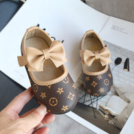 [381103-CREAM] - Casual Shoes / Sepatu Slip On 3D Anak Import - Motif Flower Stamp