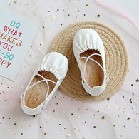 [381109-WHITE] - Sepatu Slip On Anak Import - Motif Two Cross Ropes
