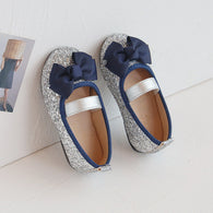 [381110-SILVER] - Sepatu Slip On Anak Import - Motif Abstract Ribbon