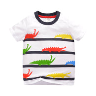 [357356] - Kaos Anak Import / Baju Atasan Summer Anak Trendi - Motif Colored Crocodile