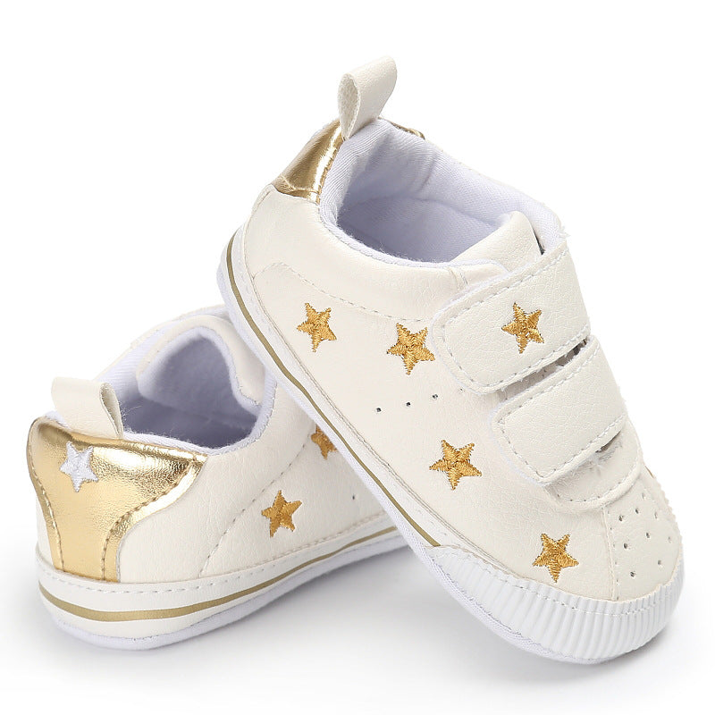 [105246-GOLD] - Sepatu Bayi Prewalker / Baby Shoes - Motif Little Star