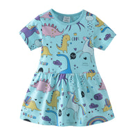 [357405] - Dress Anak Perempuan Modis / Dress Anak Import - Motif Dino Unicorn