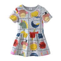 [357404] - Dress Import Anak Perempuan Modis / Dress Anak Perempuan - Motif Yay Animal