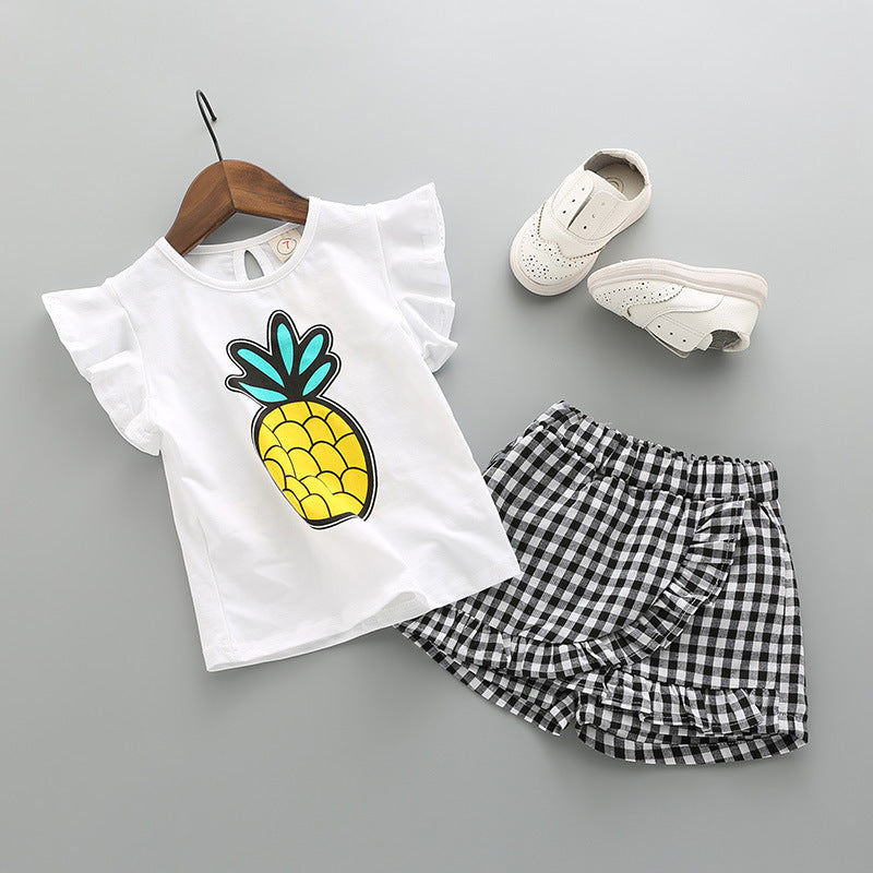 [363132] - Setelan Fashion Anak Perempuan Modis - Motif Pineapple Animation