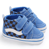 [105254-BLUE] - Stylish Shoes / Sepatu Anak Prewalker Import - Motif Check box