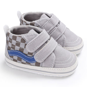 [105254-GRAY] - Stylish Shoes / Sepatu Anak Prewalker Import - Motif Check box