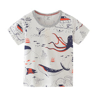 [357279] - Atasan Anak Import / Kaos Anak / Baju Atasan Summer Anak Trendi - Motif Big Sea Animals