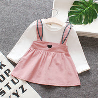[352157-PINK] - Dress Import Anak Perempuan High Fashion - Motif Little Heart