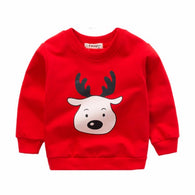 jual [102182] - [100 % IMPORT] Atasan Sweater Anak Deer Red 1 - 4 Thn [B1081]