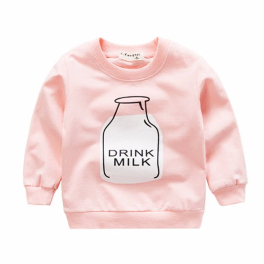 jual [102181] - [100 % IMPORT] Atasan Sweater Anak Bottle Pink 1 - 4 Thn [B1082]