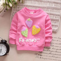 jual [102185] - [100 % IMPORT] Atasan Sweater Anak Strawberry 1 - 4 Thn [B1084]
