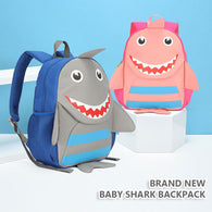 jual [113102] - ACTIVE BABY SHARK BACKPACK - ANTI LOST BAG [TA9002]