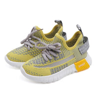 [341107-YELLOW] - Sepatu Anak Sneakers Sports Import - Motif Weaving