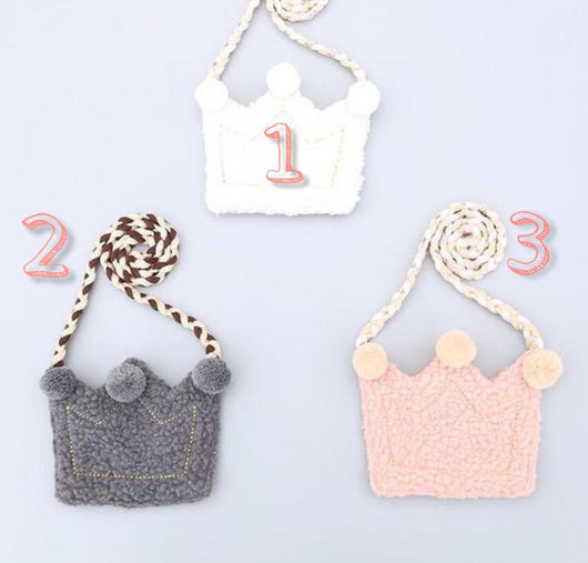 jual [114102] - Cute Tas Sling / Bag Aksesoris Fashion Korea Anak - Crown [TSA7007]