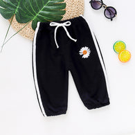 [358211-BLACK] - Celana Jogger Anak Import / Celana Training Anak - Motif Beautiful Flower
