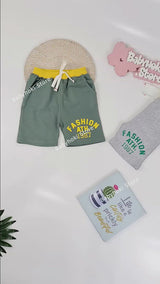 [370101-LIGHT GRAY] - Celana Santai Anak Import / Celana Pendek Anak - Motif Fashion 1987