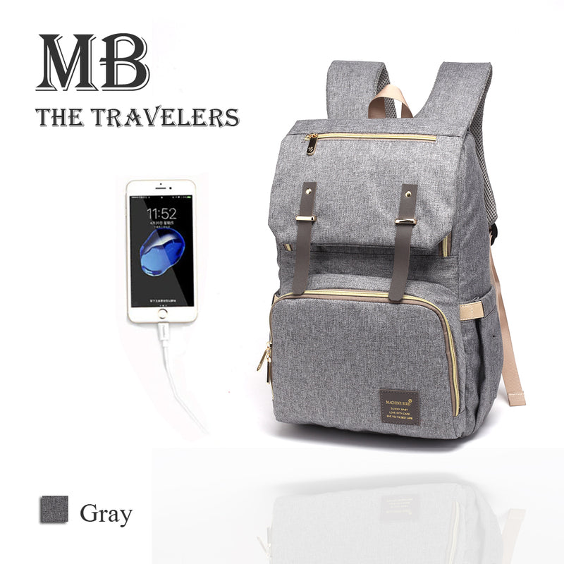 jual [MB1001] USB Diaper Bag - MB Travelers