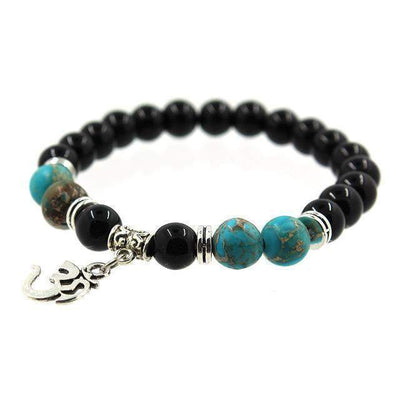 Bracelet Indian Yoga Om Charm-Mybouddha