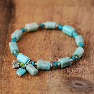Bracelet séduction en Amazonite naturelle-Bracelet-Mybouddha-Amazonite-Mybouddha