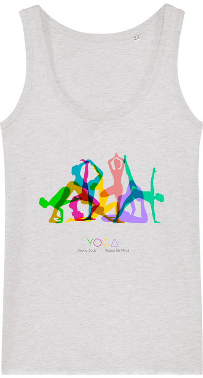 Débardeur en coton bio «Yoga 3»-Femme>Tee-shirts-Tunetoo-Cream Heather Grey-XS-Mybouddha